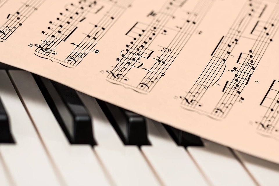noty na klavír